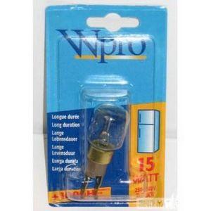 Wpro Ampoule Tclick / T25 / 15W / 220V pour réfrigérateur et congélateur