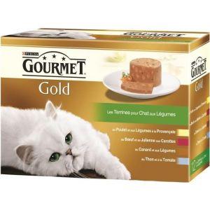 Purina Gourmet - Les Terrines Gold Aux Aux Légumes Pour Chat - 12x85g