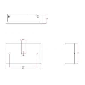 Astro Applique rectangulaire LED Rio 210 plâtre H12,5 cm - Blanc