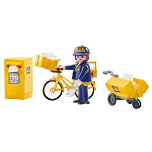Playmobil 9806 - Postière, Vélo & Accessoires de Poste - Emballage Plastique, pas de boîte