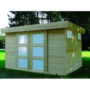 Solid S8716 - Abri de jardin Sjobo en bois 19 mm avec toit plat 8,39 m2