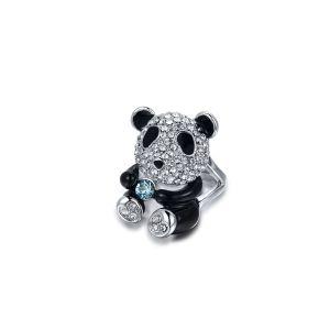 Blue Pearls Cry E402 J - Bague Panda en Cristal de Swarovski