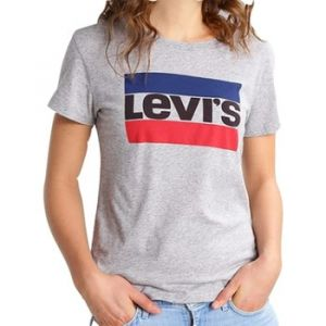 Levi's The Perfect - T-shirt - Manches courtes - Femme, Gris (Sportswear Logo Tee Smokestack 303), Medium