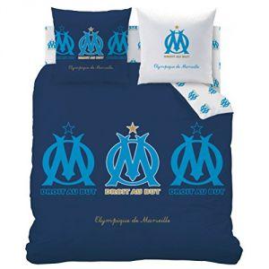 Cti Olympique de Marseille - Housse de couette et 2 taies en coton (220 x 240 cm)