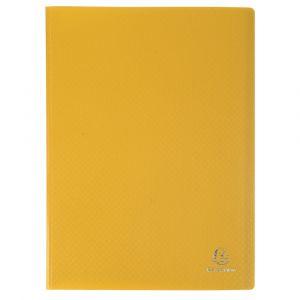 Exacompta 8559E - Protège-documents Eco A4 100 vues, polypro souple coloris jaune