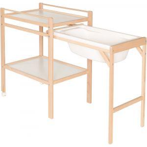 Geuther Table à langer coulissante Emma 4853, Natur
