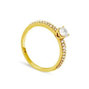 Rêve de diamants 3612030091247 - Bague en or jaune sertie de diamants