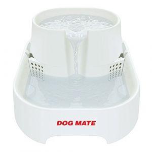 Petmate Dog Mate Grande Fontaine à Eau Fraîche pour Chien/Chat Blanc Capacité de 6 L
