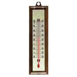 Stil Thermomètre en plastique imitation bois 155x42mm