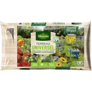 Vilmorin Terreau Universel 10 L - Terreau universel - 10 L - Prêt à l'emploi dans un sac avec zip.