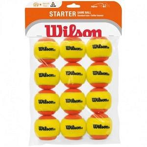 Wilson Starter Game WRT137200 Balles de tennis enfant Orange/jaune