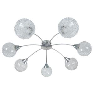 Lustre Flush 7 lumières en métal et acier