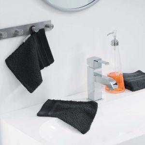 Lot de 2 gants de toilette 100% coton Vitamine 15x21 cm noir