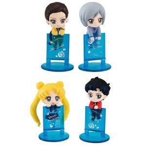 Megahouse Sailor Moon Ochatomo Series Pack 4 Figurines Three Lights 5 Cm