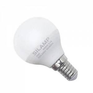 Silamp Ampoule E14 LED 8W 220V G45 300 (Pack de 10) - couleur eclairage : Blanc Froid 6000K - 8000K