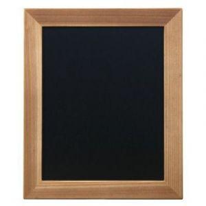 Securit Ardoise murale Woody - cadre en bois teck - livré avec un feutre craie blanc - L40 x H60 cm