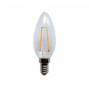 Ampoule à filament LED C35 2W équivalence incandescence 25 W - 2 700 K E14