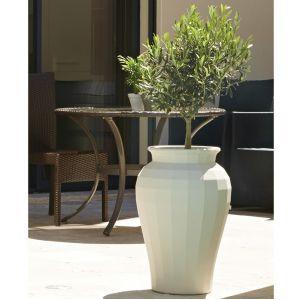 Poetic Pot de fleur Amphore Twist Blanc