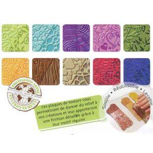 Mystbrand Plaque de texture pour pâte à modeler Fimo - Lot de 10