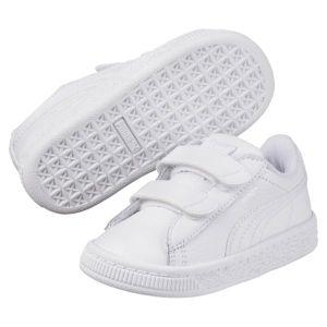 Puma Basket Classic LFS V Inf, Sneakers Basses Mixte Enfant, Blanc White White, 27 EU