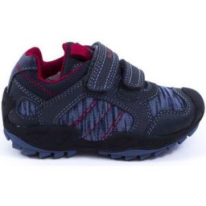 Geox Chaussures enfant Baskets Tissu JR NEW SAVAGE bleu - Taille 24,25,26,27,28