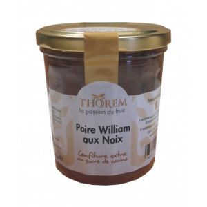 Thorem Confiture de Poire William aux noix pot 375gr