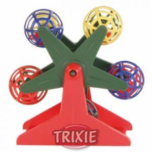 Trixie Grande roue avec petites boules de hochet pour oiseaux 10 cm