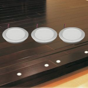 Lumihome DEC/SET1036-3 - Kit 3 spots led pour parquet blanc chaud