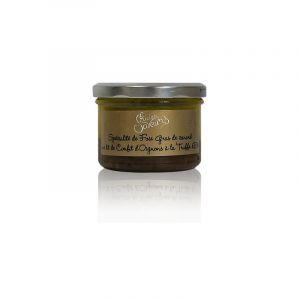 Halte Gourmande Spécialité de foie gras de canard sur lit de confit d'oignons à la truffe d'été 180g