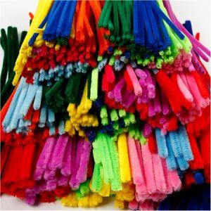 Creotime Lot Fil chenille Multicolore 30 cm 3 diamètres 700 pcs