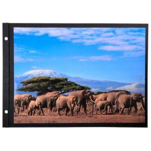 Exacompta 16813E - Sachet de 10 recharges pour album à vis pages noires - 30,5x21,5cm