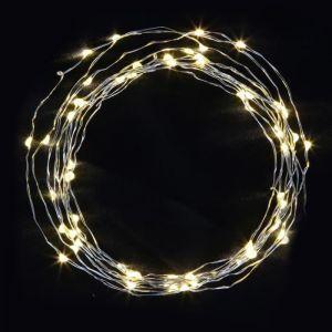 Guirlande de Noël lumineuse 100 mini LED 5m cuivre et blanc chaud