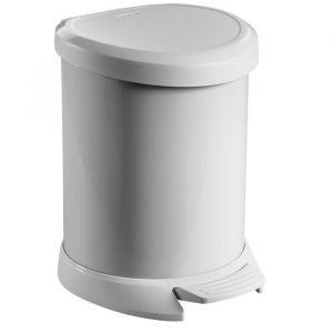 Curver Poubelle à pédale 5 L gris - Mécanisme : à pédale - Capacité : 5 L - Coloris : gris