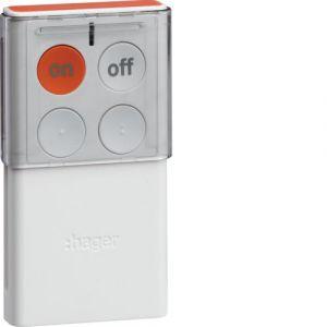 Hager RLF444X Télécommande 4 touches SEPIO (pile fournie) bidirectionnelle