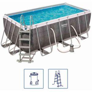 Bestway Ensemble de piscine rectangulaire Power Steel 56722