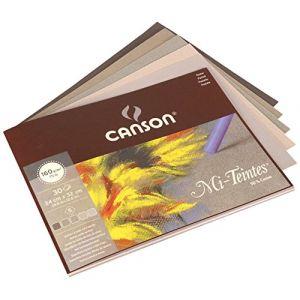 Canson Papier Mi-teintes tons gris 24x32 cm 30 feuilles