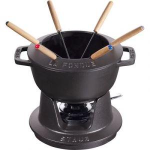 Staub Service à fondue en fonte noir mat 18 cm - 40511-971-0