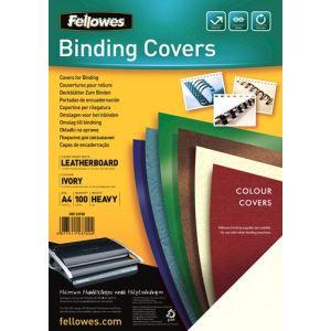 Fellowes 100 couvertures Delta structure en cuir format A4 (250 g)