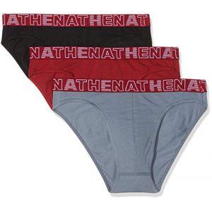 Athena Culottes & slips Lot de 3 slips homme Basic Color rouge - Taille EU XXL,EU M,EU L,EU XL