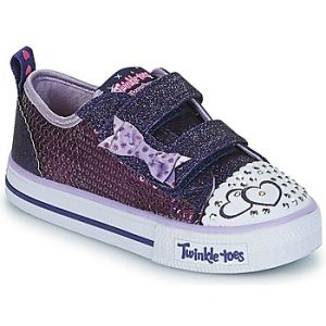 Skechers Shuffles-Itsy Bitsy, Baskets Bébé Fille, Multicolore (Purple Sequin Textile/Blue Trim), 23 EU