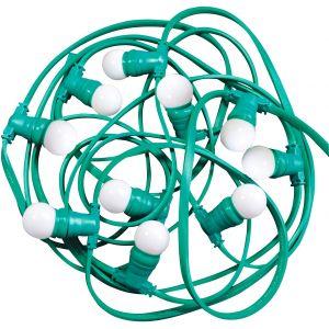 Tibelec Guirlande LED blanches - Longueur 10 m - 10 ampoules