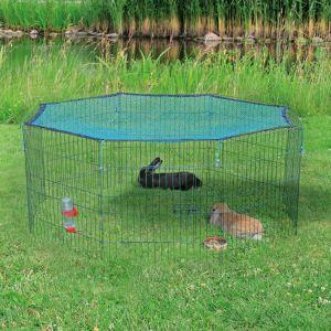 Trixie Porte-enclos d'extérieur avec filet de protection 60x57 cm vert