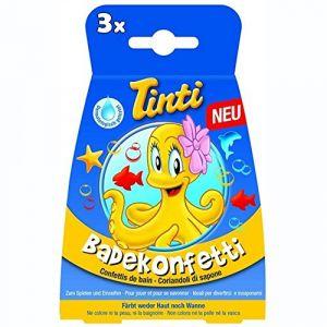 Tinti Confettis de bain - Lot de 3 Sachets de 6 g - Dès 3 ans