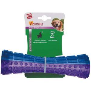 Animalis Stick chien en plastique coloré 15 cm