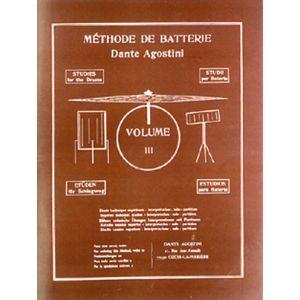 Agostini Dante : Methode De Batterie: Techniques Supérieures - Volume 3 - Partitions
