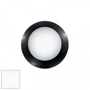 Ideal lux Applique / plafonnier extérieur led Berta Blanc Résine 096445
