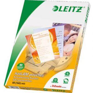 Leitz 33818 Pack de 100 pochettes de plastification A4 80µ