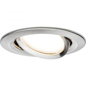 Paulmann Spot LED encastrable LED intégrée Coin Slim 93866 blanc chaud 6.8 W fer (brossé)
