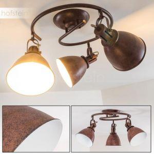 Hofstein Spot plafond Koppom composé de 3 sposts au style industriel - Luminaire spots plafond pivotant pour un éclairage optimal