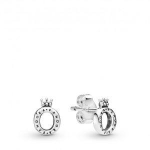 Pandora Boucles d'oreilles 298295 - Clous d'oreilles O Couronne Poli Argent